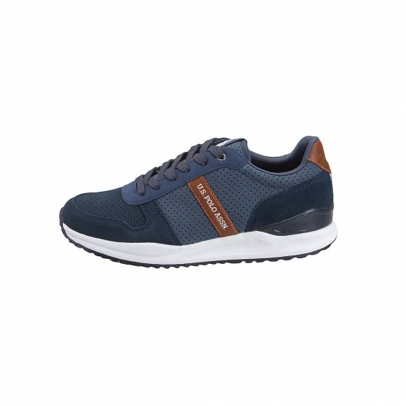 Ανδρικά Δερμάτινα Sneakers Us Polo Assn Edward Dk Blue YBRA4090S9 SY1