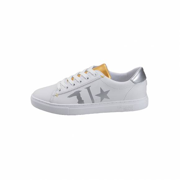 347a6ab0af Γυναικεία Δερμάτινα Sneakers Trussardi Sneakers synthetic leather Tongue  prin Silver Gold 79A003089Y099999 M021 ...