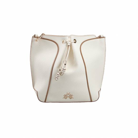 La Martina 41W216 N0000 00002 Off White Woman hobo bag Margarita