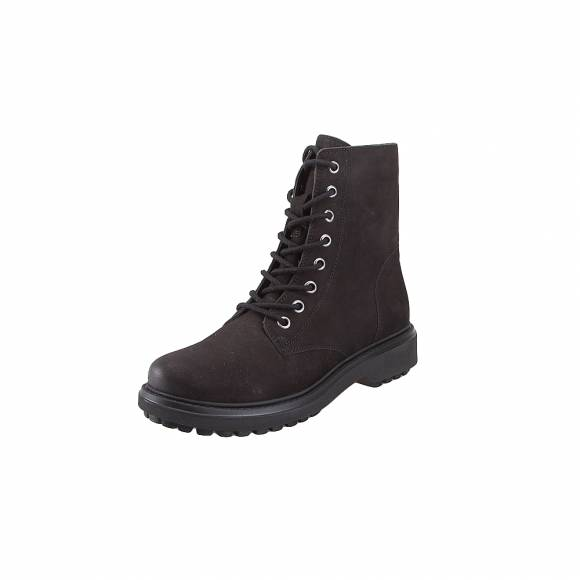 Γυναικεία Δερμάτινα Bike Boots Geox D847AH 000LT C9999 Asheely nbk goat leather Black ankle boots