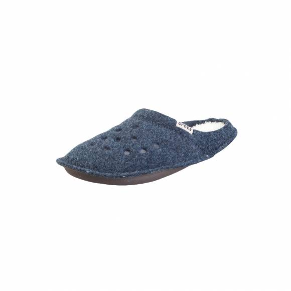 Crocs classic slipper nautical Navy Oatmeal roomy fit 203600 49U