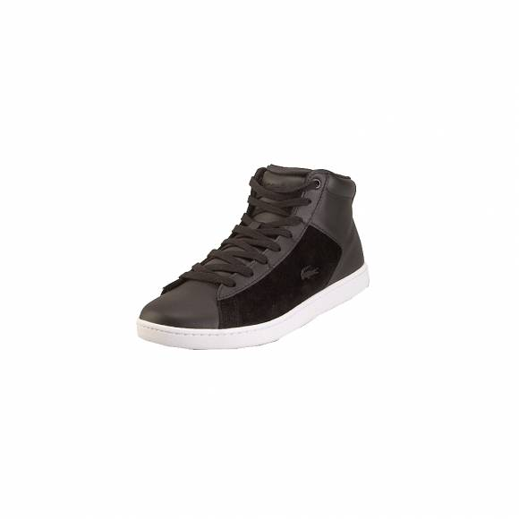 Lacoste Carnaby Evo 318 1 SPW Blk Wht Leather Textile 7-36SPW0017312