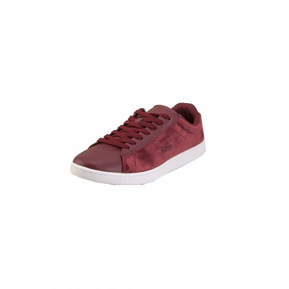 Lacoste Carnaby Evo 318 8 Spw 7 36SPW00152H2 burg Wht Textile Leather