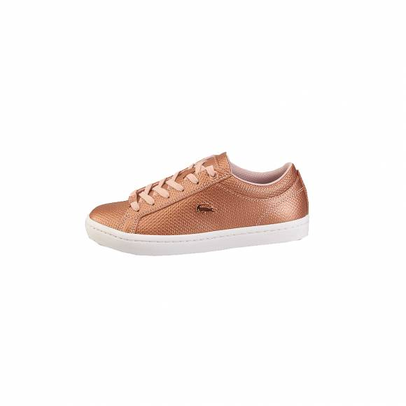 Lacoste Straightset 318 2 Caw  7 36 CAW0038208 Lt Pnk Wht Leather