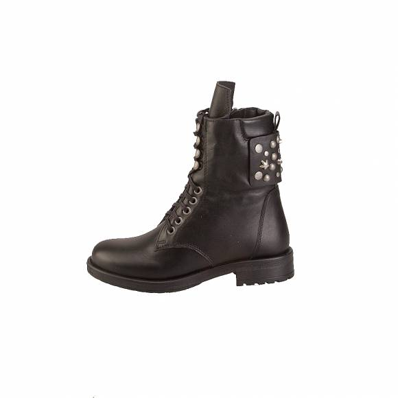 Γυναικεία Δερμάτινα Bike Boots Esthissis X4271 TOP128A D Black leather
