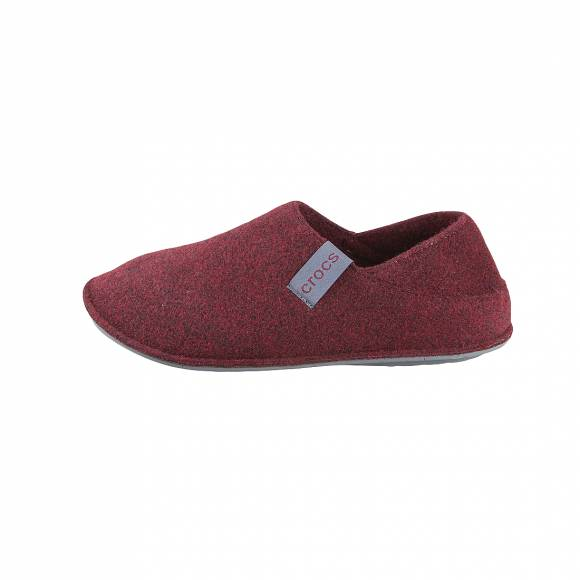 Crocs classic convertible slipper burgundy charcoal roomy fit 205837 60V