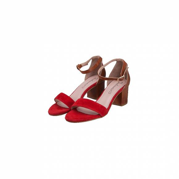 TOUTOUNIS 70177 RED TABBA  SUEDE LEATHER