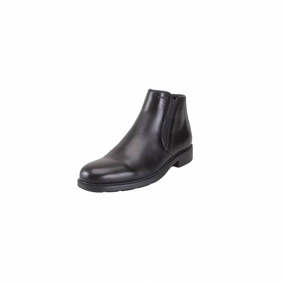 Geox U34R2D 00043 C9999 Duplin smooth leather Blak ankle boots everyday comfort