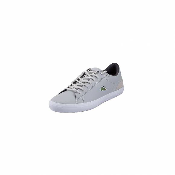 Lacoste Lerond 318 3 Cam  Lt Gry Dk Gry 7 36CAM00482G2  Leather