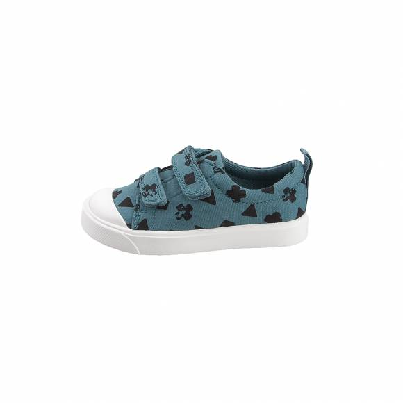 Παιδικά Sneakers Clarks City Flarelo T Navy canvas Teal combi 26141108 7 065