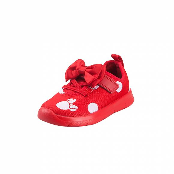 Παιδικά Sneakers Clarks Disney Ath Bow T 26142411 6 050 Red Combi