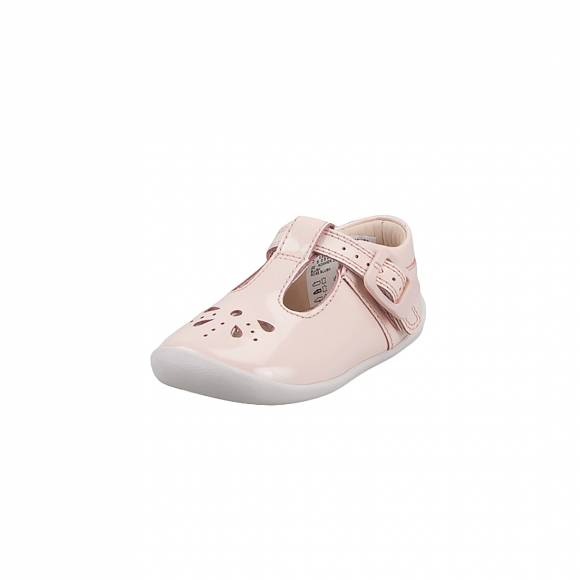 Παιδικά Δερμάτινα Slippers Clarks Roamer Star T 26142279 Blush