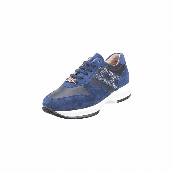Toutounis 3692 Blue strass Suede Leather