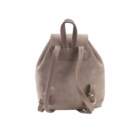 Four Knot 1030018 small Taupe suede backpack