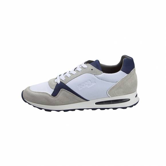 Ανδρικά Δερμάτινα Sneakers Boss shoes L. Laurel white