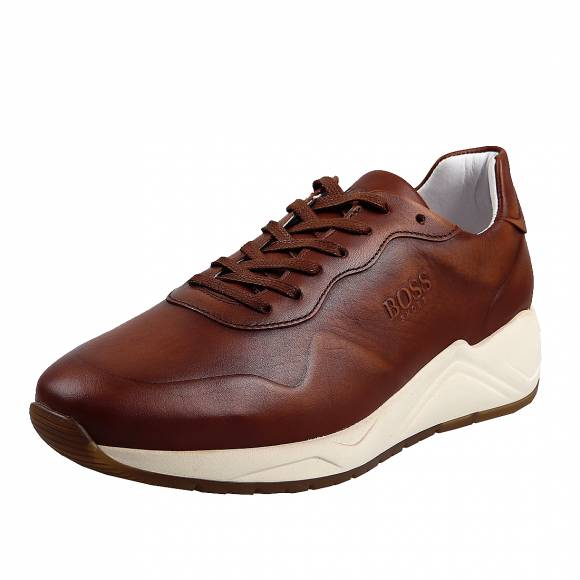 Ανδρικά  Sneakers Boss Shoes NQ191 Cognac Burn