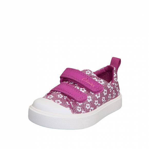Παιδικά Sneakers Clarks City Bright T 26149090 Pink Floral