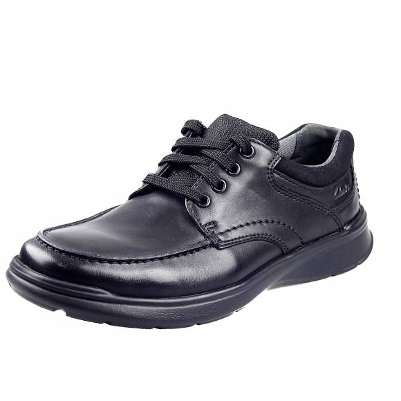 Ανδρικά Casual Παπούτσια Clarks Cotrell Edge 26137385 7 Black Smooth Leather