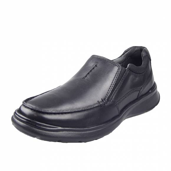 Ανδρικά Casual Παπούτσια Clarks Cotrell Edge 26137386 7 Black Smooth Leather