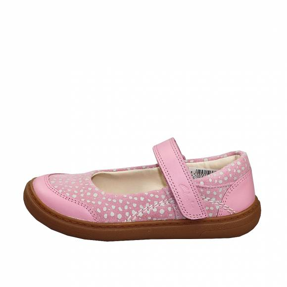 Παιδικές Μπαλαρίνες Clarks Flash Stride T 26149457 6 Dusty Pink leathe