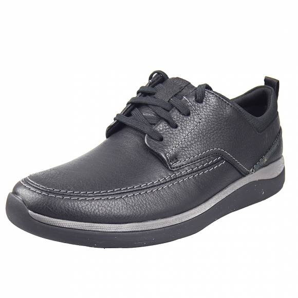 Ανδρικά Casual Παπούτσια Clarks Garratt Street 26148761 7 Black Leather