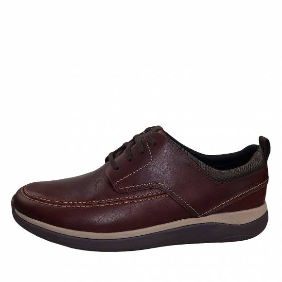 Ανδρικά Παπούτσια Casual Clarks unstructured  Street 26148762 Mahogany leather