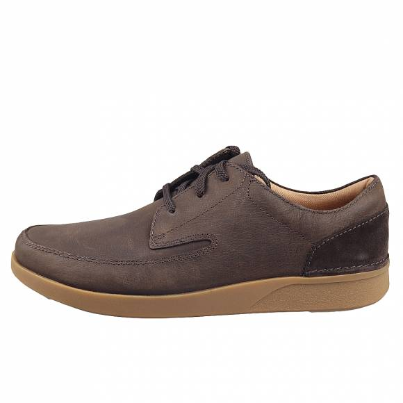 Ανδρικά Casual Παπούτσια Clarks Oakland Craft 26148102 7 Dark Brown Nubuck