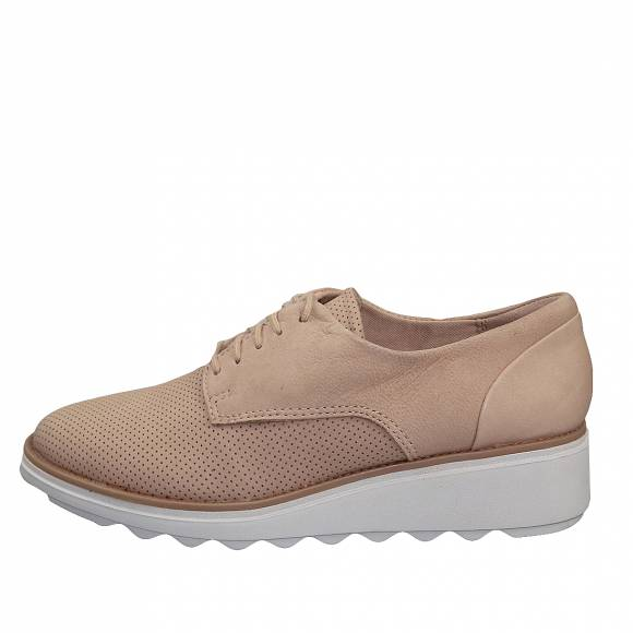 Γυναικεία Δερμάτινα sneakers Clarks Sharon Crystal 26140642 4 Blush Nubuck