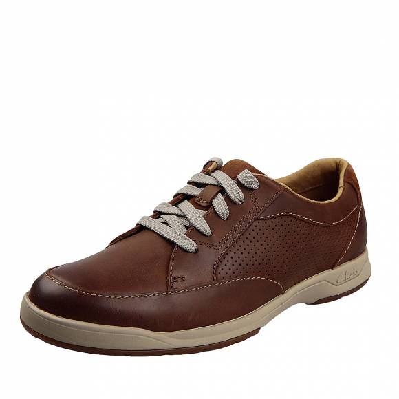 Ανδρικά Παπούτσια Casual Clarks Stafford Park5 20358593 7  Tan leather