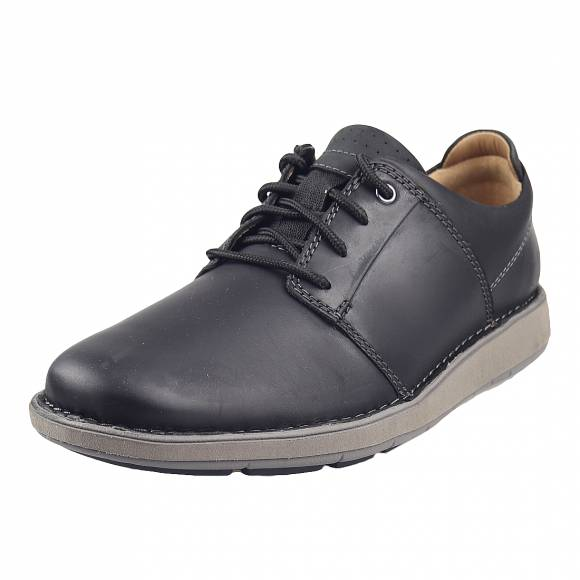 Ανδρικά Casual Παπούτσια Clarks Un Lavrik Lace2 26155084 7 Black Leather