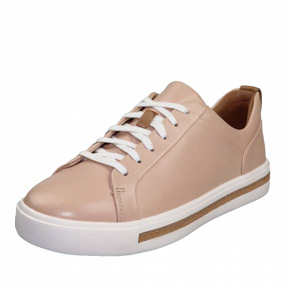 Γυναικεία Δερμάτινα sneakers Clarks unstructured Un Maul Lace 26140167 4 Blush leather