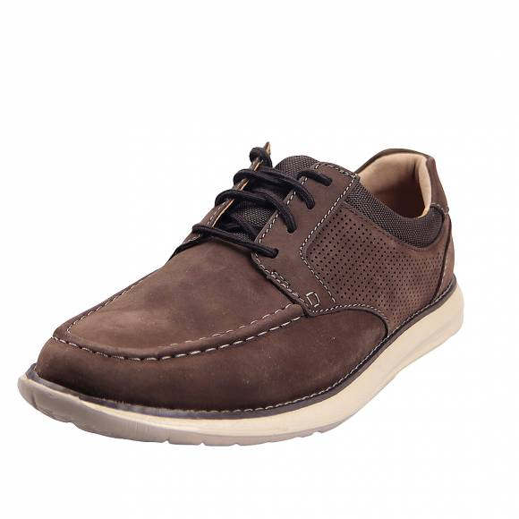 Ανδρικά Παπούτσια Casual Clarks unstructured Un Pilot Tie 26149244 7 Brown Nubuck