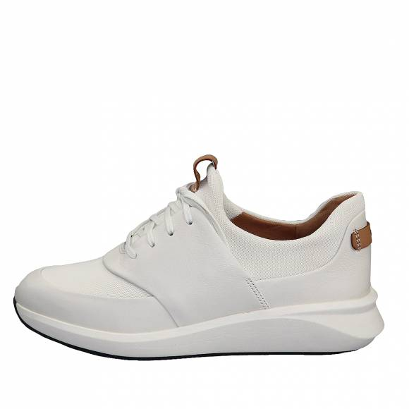 Γυναικεία Δερμάτινα sneakers Clarks unstructured Un Rio Lace 26140398 4 White leather
