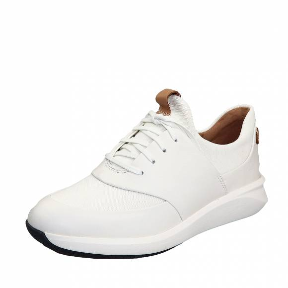 Γυναικεία sneakers Clarks unstructured Un Rio Lace 26140398 4 White leather