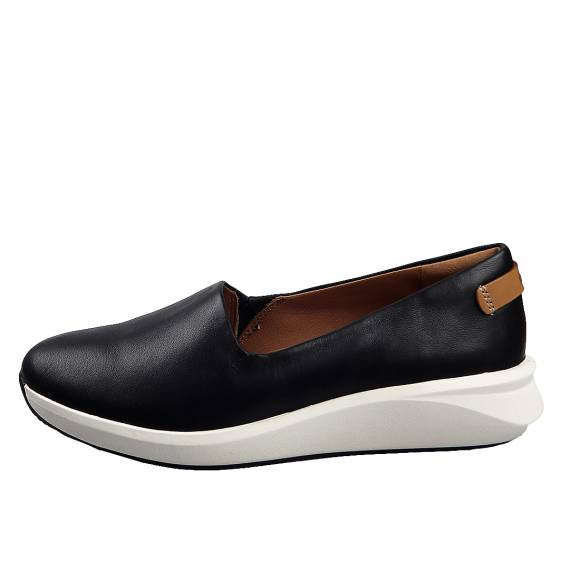 Γυναικεία Δερμάτινα Slippers Clarks unstructured Un Rio Step 26141283 4 Black leather