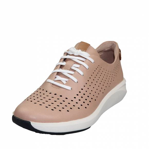 Γυναικεία Δερμάτινα sneakers Clarks unstructured Un Rio Tie 26148715 4 Blush leather