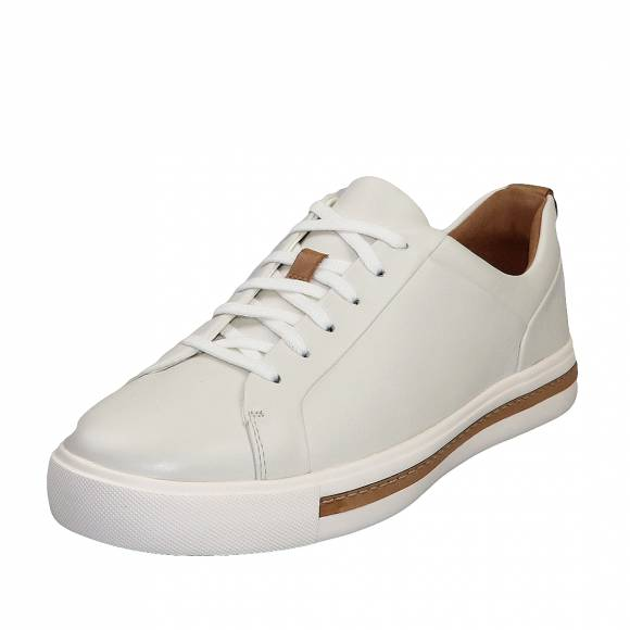 Γυναικεία Δερμάτινα sneakers Clarks unstructured Un Maul Lace 26140168 4 White leathe