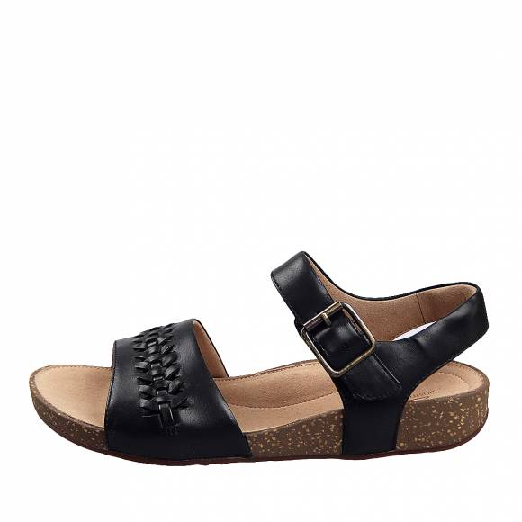 Γυναικεία Flatforms Clarks unstructured Un Perri Way 26148701 4  Black leather