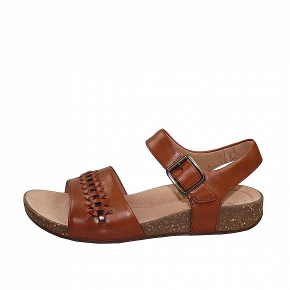 Γυναικεία Flatforms Clarks unstructured Un Perri Way 26148703 Dark Tan leather