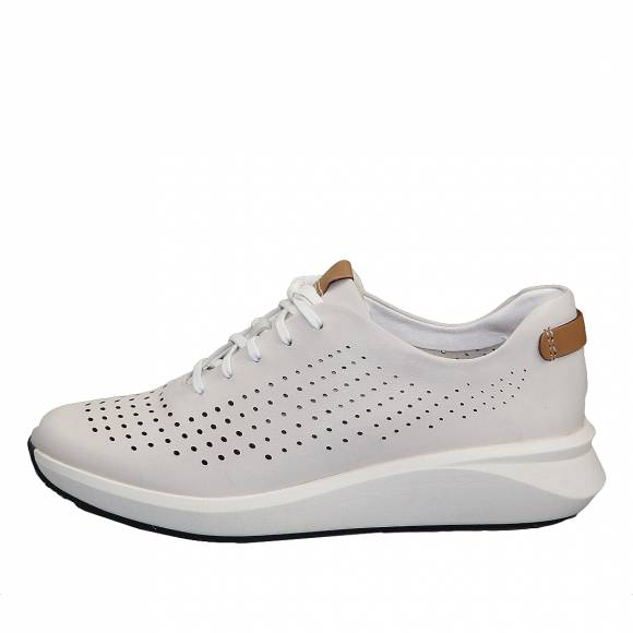 Γυναικεία Δερμάτινα sneakers Clarks unstructured Un Rio Tie 26148256 4 White leather
