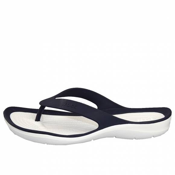Γυναικείες Σαγιονάρες Crocs 204974 462 Swiftwater flip w Navy White Relaxed Fit
