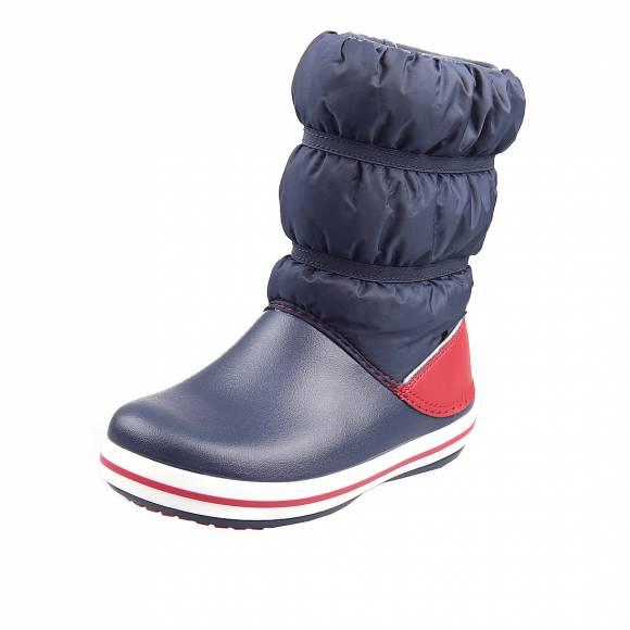 Παιδικά Γαλοτσάκια Crocs 206550 485 Crocband Winter Boot K Relaxed Fit Navy Red