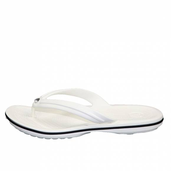 Unisex Σαγιονάρες Crocs band fit white 11033 100 relaxed fit white