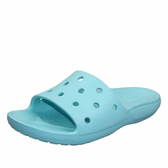 Γυναικεία Flatfroms Πέδιλα Crocs classic crocs slide ice blue roomy fit 206121 409