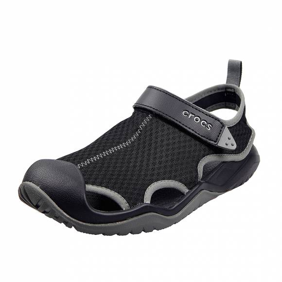 Ανδρικά σανδάλια Crocs swiftwater mesh deck sandal m black relaxed fit 205289 001