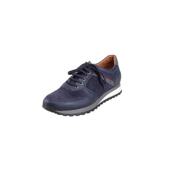Ανδρικά Δερμάτινα Sneakers Damiani 1483 Blue