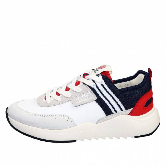 Ανδρικά Sneaker Franklin Marshall Alpha Varsity FFIE0002L 0414 Lt Grey Navy Red