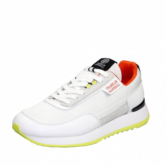 Ανδρικά Sneaker Franklin Marshall Delta Bleach FTRA0004T 2874 White Orange Lime