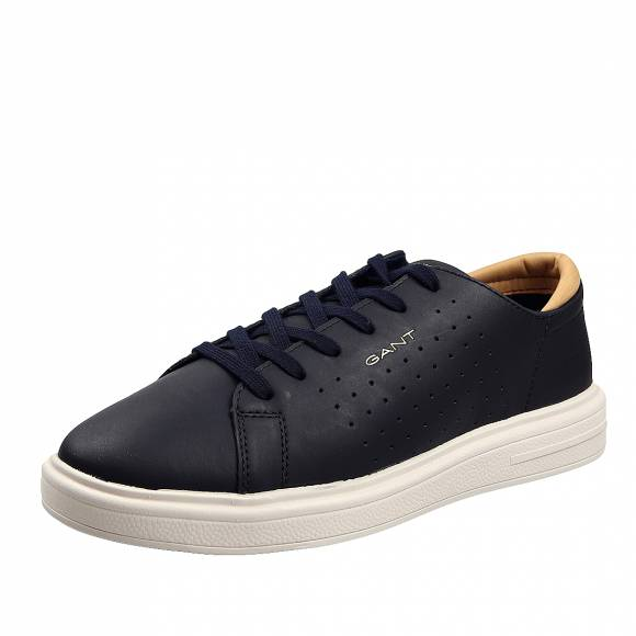 Ανδρικά Δερμάτινα Sneakers Gant Fairville 20631526 G69 Storm Blue pull up leather
