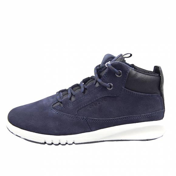 Παιδικά Sneakers Geox J04BNA 022BU C4244 Aeranter Boy suede tumb gbk Navy Dk Red Junior